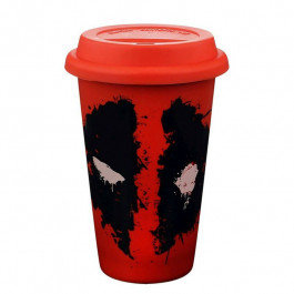 Deadpool - Splat Red (Ceramiczny Travel Mug)