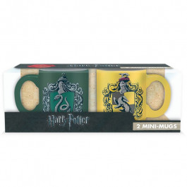 Harry Potter - kubeczki do espresso Slytherin i Hufflepuff