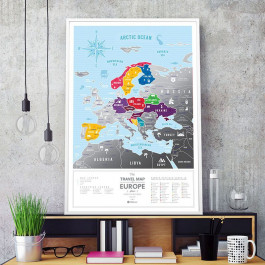 Mapa Zdrapka Europa - Travel Map Silver Europe