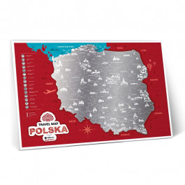 Mapka Zdrapka - Travel Map Polska
