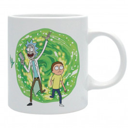 Rick and Morty - biały kubek Portal