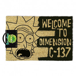 Wycieraczka Rick and Morty - Welcome to Dimension C-137