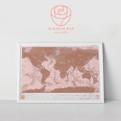Mapka Zdrapka - Rose Gold