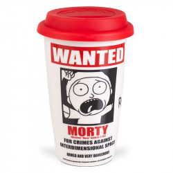 Rick and Morty - Wanted Ceramiczny Travel Mug