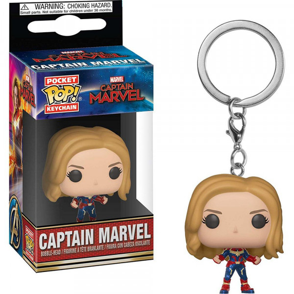 Captain Marvel - brelok Kapitan Marvel (Pocket Pop! Keychain)
