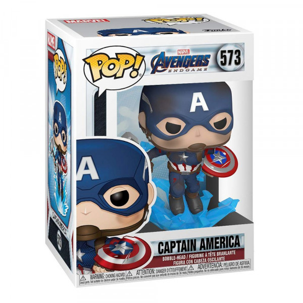 Avengers: Endgame - figurka Captain America with Broken Shield and Mjolnir (Funko Pop! nr 573)