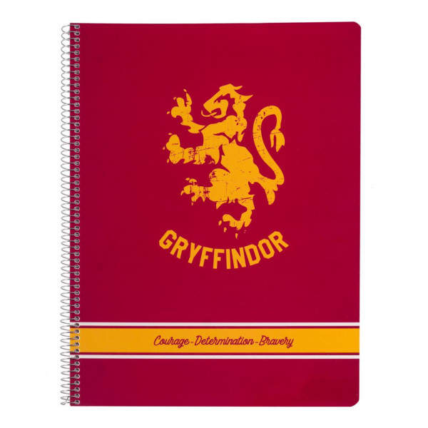 Harry Potter - Notes Gryffindor A4 w linie