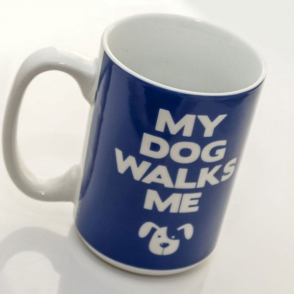 Kubek My Dog Walks Me