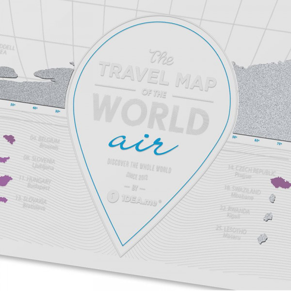 Mapa Zdrapka Świat - Travel Map Air World