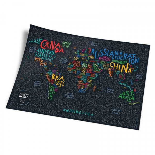 Mapa Zdrapka Świat - Travel Map Letters World