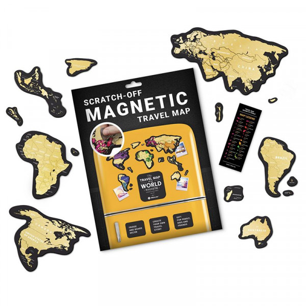 Mapa Zdrapka Travel Map™ Magnetic World