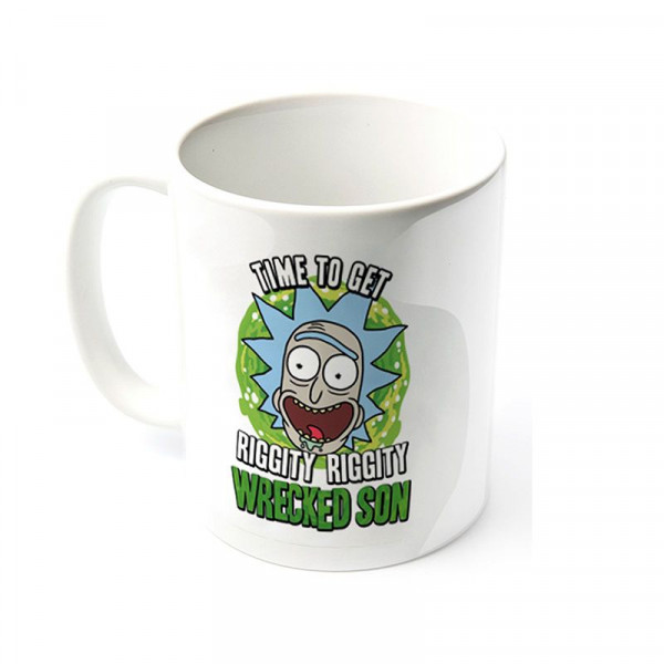 "Rick and Morty - Kubek ""Time to get RIGGITY RIGGITY WRECKED SON"""