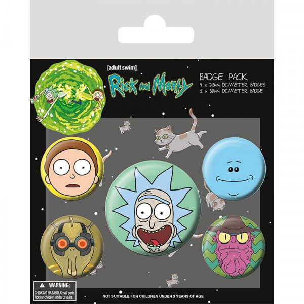 Rick and Morty - Przypinki Faces