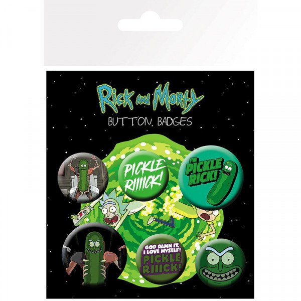 Rick and Morty - Przypinki Pickle Rick