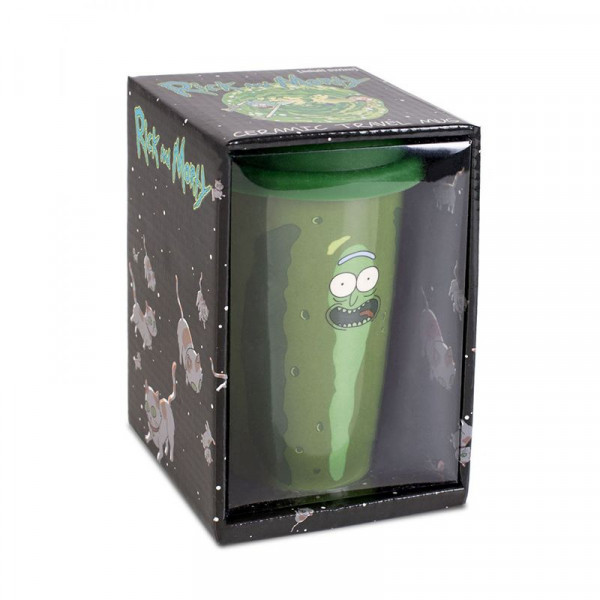 Rick and Morty - Pickle Rick Ceramiczny travel mug