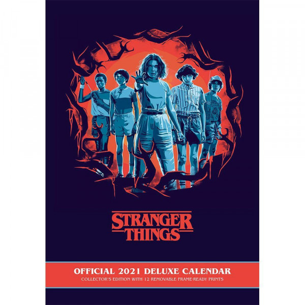 Stranger Things - Collector's Edition - kalendarz ścienny 2021 Deluxe