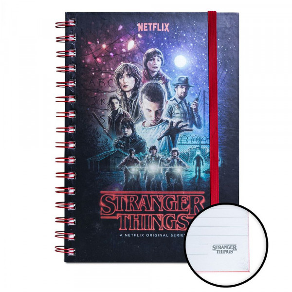 Stranger Things - metaliczny notes S1