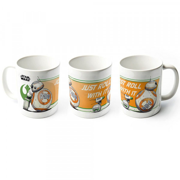 Star Wars - kubek BB-8 & D-O - Just roll with it