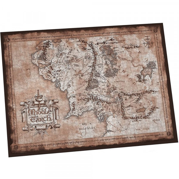 The Lord Of the Rings - Mapa Śródziemia - puzzle 1000 elementów