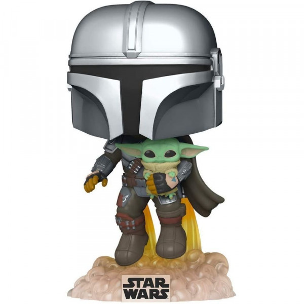Star Wars: The Mandalorian - figurka The Mandalorian with The Child flying with Jet Pack (Funko Pop! nr 402)